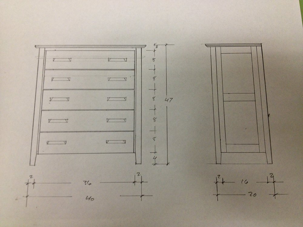 Dresser Plans Cedar Mountain Woodwrights