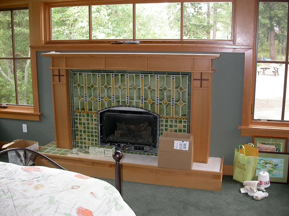 Amazing Craftsman Style Fireplace And Mantle Cedar